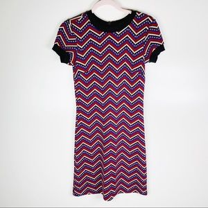 Zara Dresses - Zara Chevron Knit Retro Mini Dress Size XS